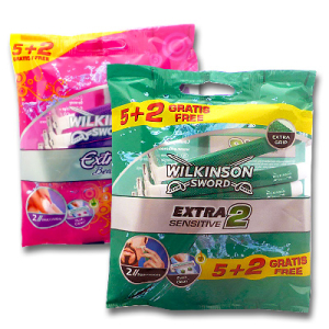 Extra 2 disposable razors