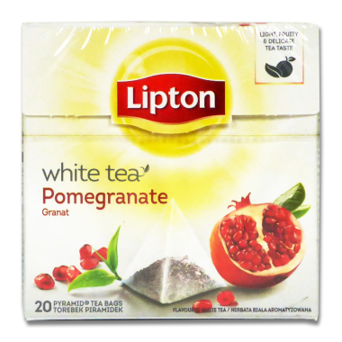 Lipton White Tea with Pomegranate, Pack of 20
