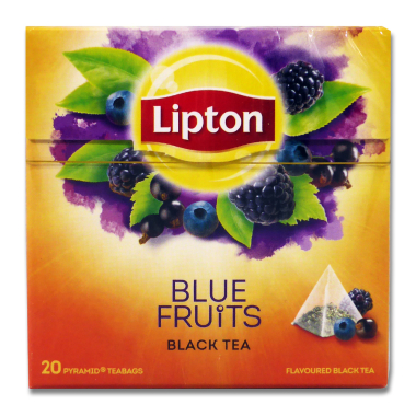 Lipton Black Tea Blue Fruit, pack of 20