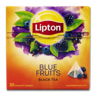 Lipton Black Tea Blue Fruit, pack of 20