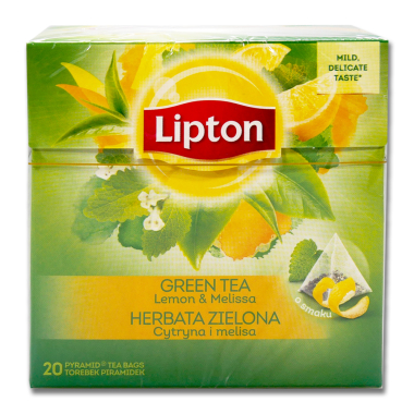 Lipton green tea lemon balm, pack of 20