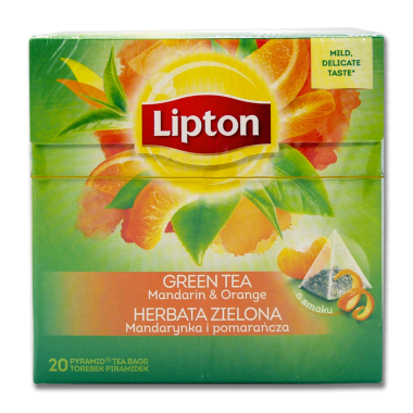 Lipton Green Tea Mandarin Orange, Pack of 20