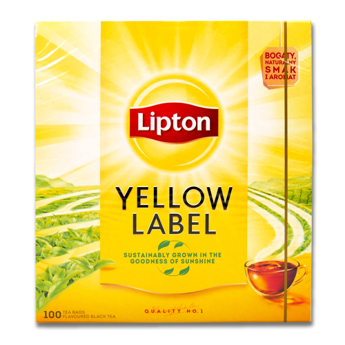 Lipton Yellow Label Black Tea, Pack of 100