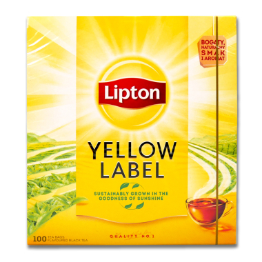 Lipton Yellow Label Schwarztee, 100er Pack