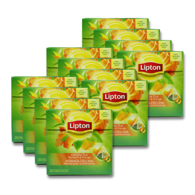 Lipton Green Tea Mandarin Orange, Pack of 20 x 12