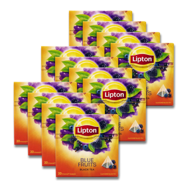 Lipton Schwarztee Blue Fruits, 20er Pack x 10