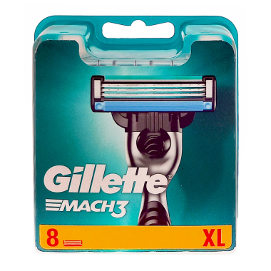 Gillette Mach3 razor blades, pack of 8