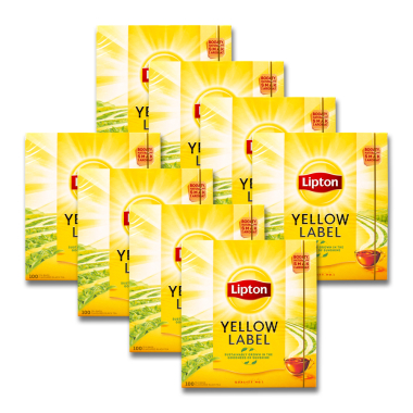 Lipton Yellow Label Black Tea, pack of 100 x 8