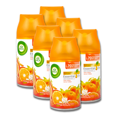 Air Wick Freshmatic Max Citrus-Mix (Anti-Tabak), 250 ml x 6