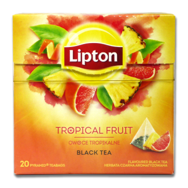 Lipton Black Tea Tropical Fruit, pack of 20