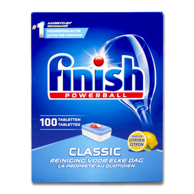 Finish Powerball Classic Lemon Dishwasher Tabs, pack of 100