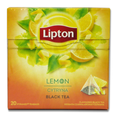Lipton Black Tea Lemon, pack of 20