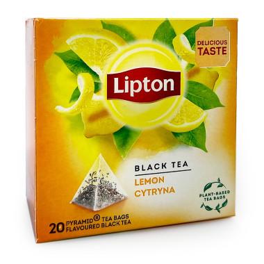 Lipton Black Tea Lemon, pack of 20 x 12