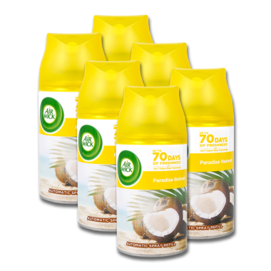 Air Wick Freshmatic Life Scents Paradise Retreat, 250 ml x 6