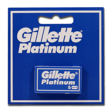 Gillette Platinum razor blades, pack of 5