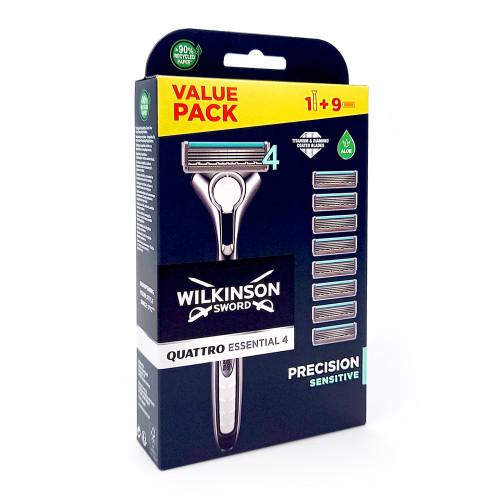 Wilkinson Quattro Titanium Sensitive razor + 8 replacement blades