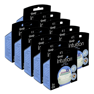 Wilkinson Intuition Dry Skin razor blades, pack of 3 x 10