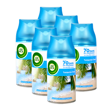 Air Wick Freshmatic Life Scents Turquoise Oasis, 250 ml x 6