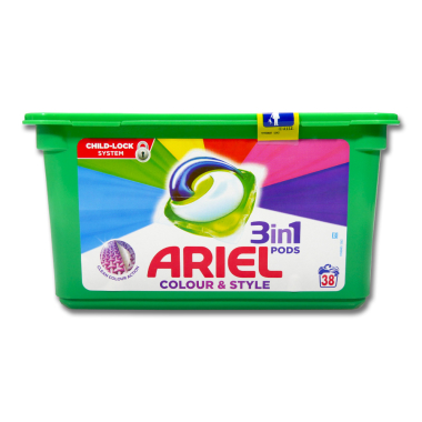 Ariel 3in1 Pods Colour & Style, 38WL