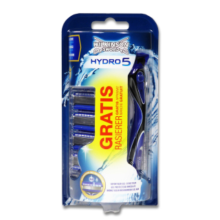 Wilkinson Hydro5 shaver + 4 replacement blades