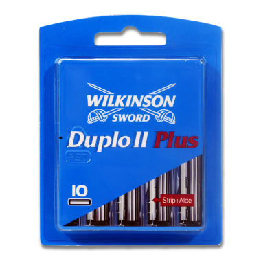 Wilkinson Sword Duplo II Plus razor blades, pack of 10 x 10