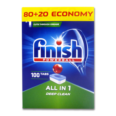 Finish Powerball All-in-1 dishwasher tabs, pack of 100
