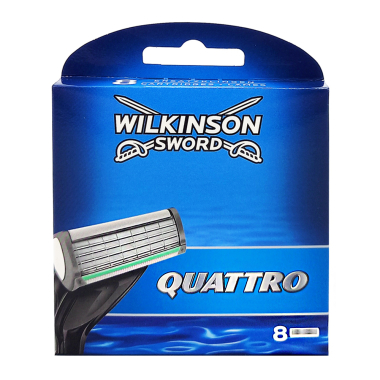 Wilkinson Quattro Plus razor blades, pack of 8