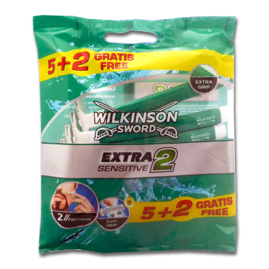 Wilkinson Extra 2 Sensitive Einwegrasierer, 7er Pack