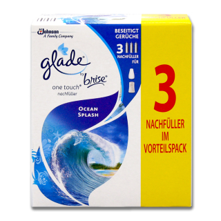 Glade by brise One Touch Refill Ocean Splash, 3 x 10 ml