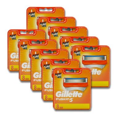 Gillette Fusion razor blades, pack of 8 x 5