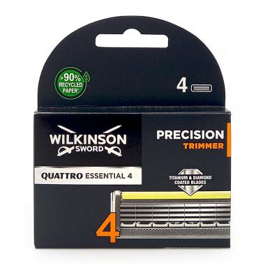 Wilkinson Quattro Titanium Precision razor blades, pack of 4