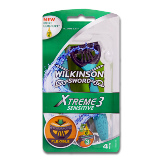 Wilkinson Xtreme3 Sensitive disposable razor, pack of 4