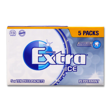 Wrigleys Chewing Gum Extra Ice Peppermint, pack of 50 x 24