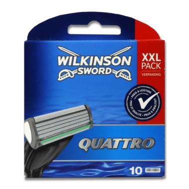 Wilkinson Quattro Plus razor blades, pack of 10
