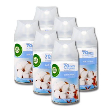 Air Wick Freshmatic Pure Soft Cotton refill, 250 ml x 6