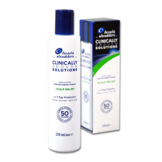 Head & Shoulders Clinically Proven Solutions Scalp Relief Shampoo 250ml B-STOCK