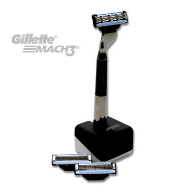 Gillette Mach3 gift set with razor, holder + 2...