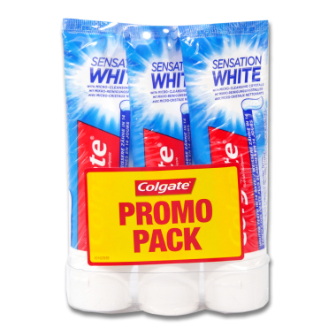 Colgate toothpaste Sensation White Promo Pack, 3 x 75 ml