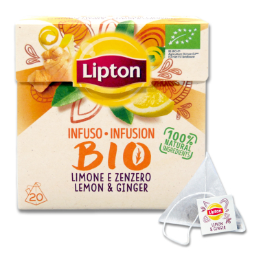 Lipton Tea infusion BIO Ginger & Lemon, pack of 20