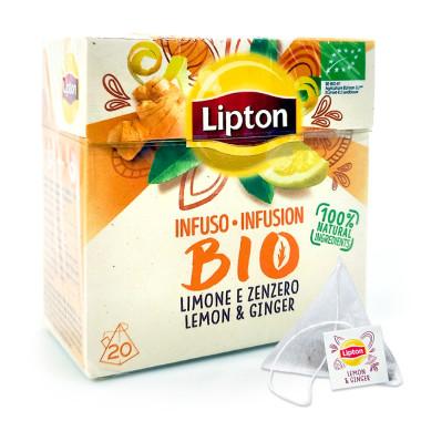 Lipton Tea infusion BIO Ginger & Lemon, pack of 20