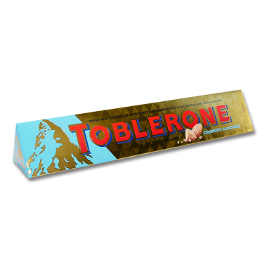Toblerone Crunchy Almonds milk chocolate with slightly...