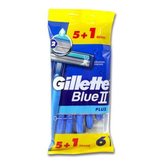 Gillette Blue II Plus disposable razor, pack of 6