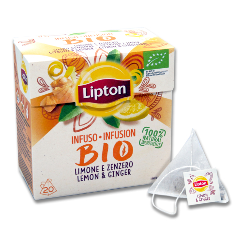 Lipton Tea infusion BIO Ginger & Lemon, pack of 20 x 12