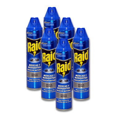 Raid insect spray, 600 ml x 6