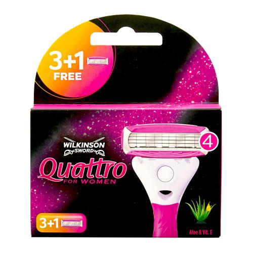 Wilkinson Quattro for Women razor blades, pack of 4