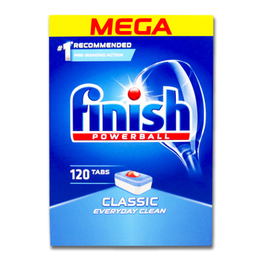 Finish Powerball Classic Dishwasher Tabs, pack of 120 x 4