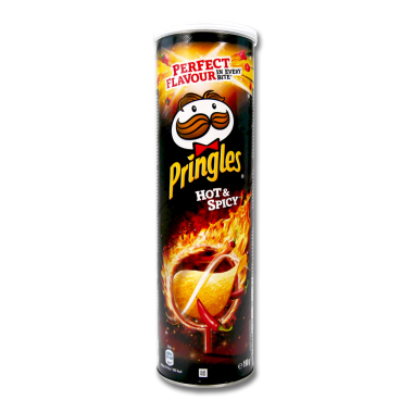 Pringles Chips Hot & Spicy, 190 g