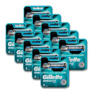 Gillette Mach3 razor blades, pack of 4 x 10