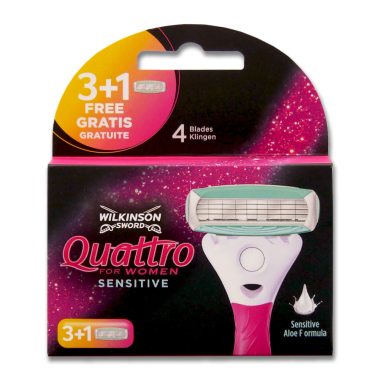 Wilkinson Quattro for Women Sensitive razor blades, pack...