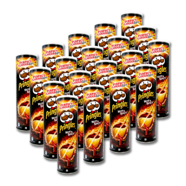 Pringles Chips Hot & Spicy, 190 g x 19